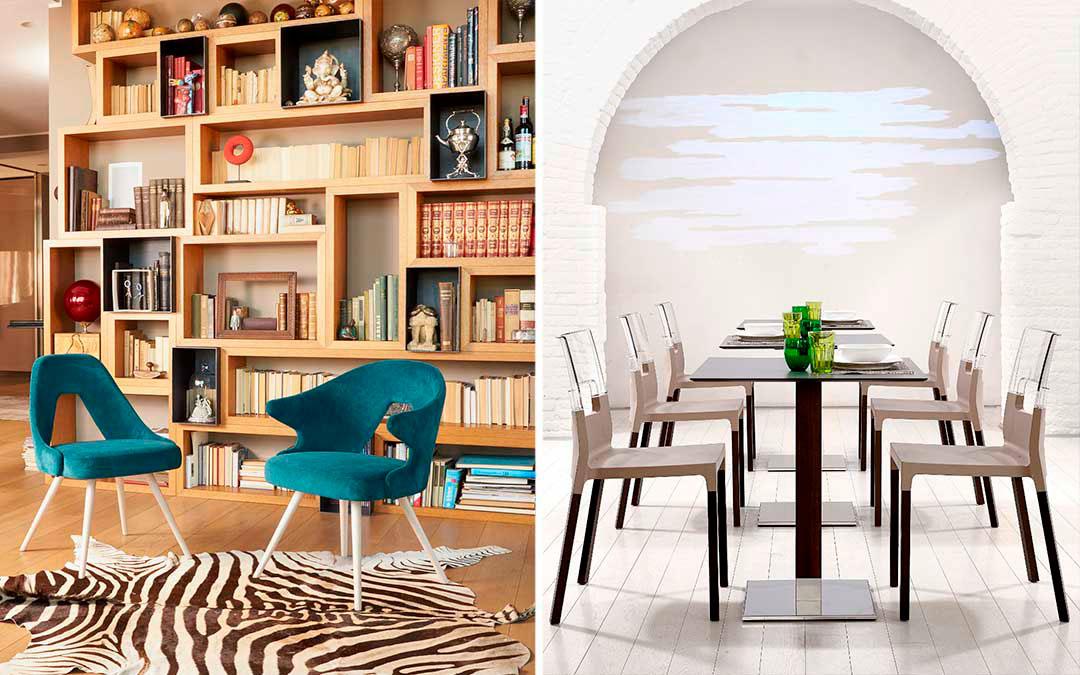 Стильные интерьеры ресторанов, отелей и офисов со стульями Scab Design: 21 пример с фото