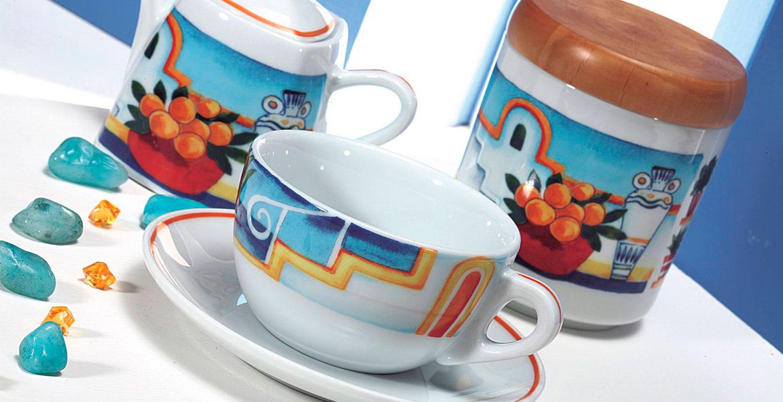 Verona – деколированные фарфоровые чашки Ancap