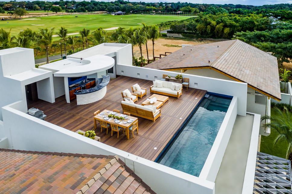 проект дома с террасой на крыше картинки является