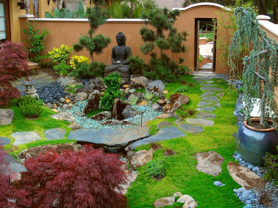 Сад в японском стиле: фото идеи оформления