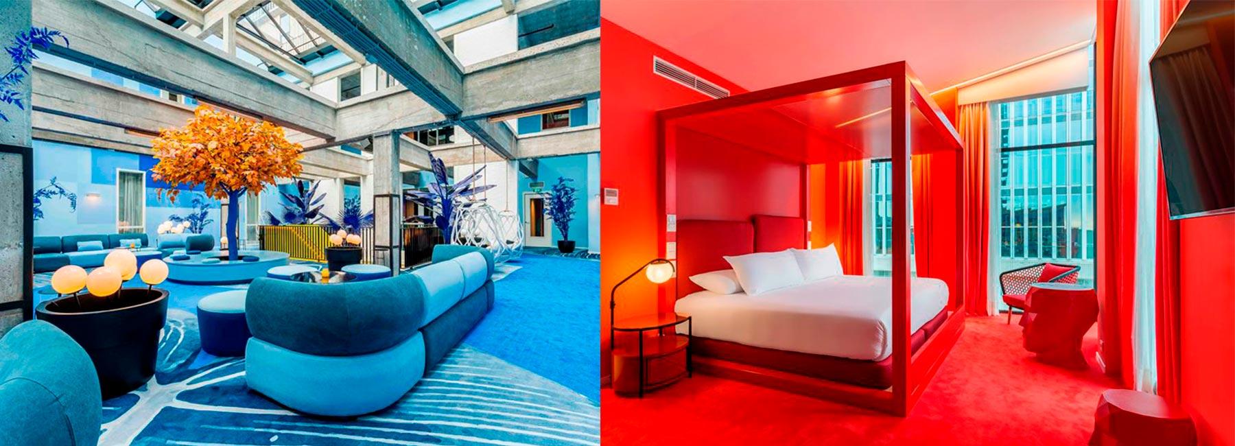 Отель Room Mate Bruno по проекту Teresa Sapey Studio, Роттердам, Нидерланды