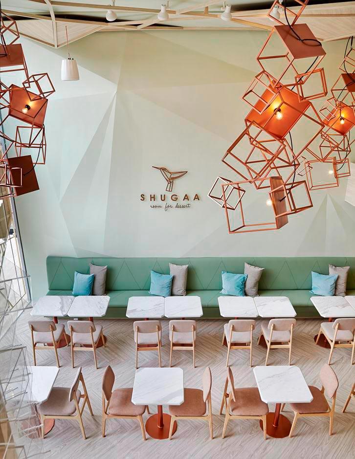 Сахарное кафе: на создание интерьера этого кафе дизайнеров вдохновили кристаллы сахара
