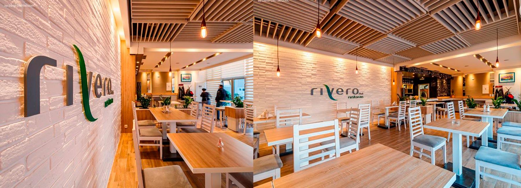Ресторан Rivero a&s Restaurant по проекту Gepek Studio, Босния и Герцеговина
