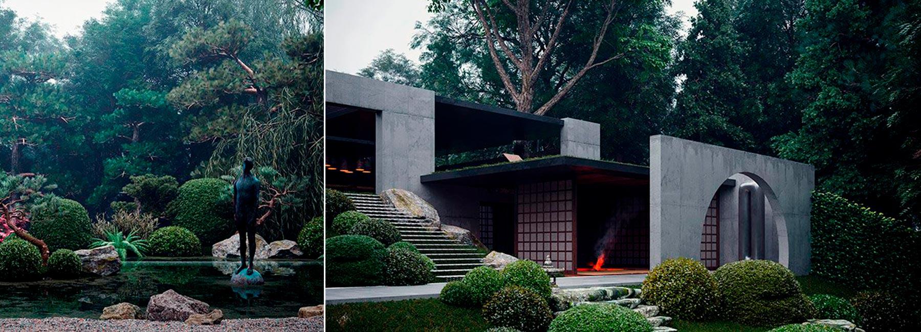Частная резиденция с японским садом по проекту Сергея Махно