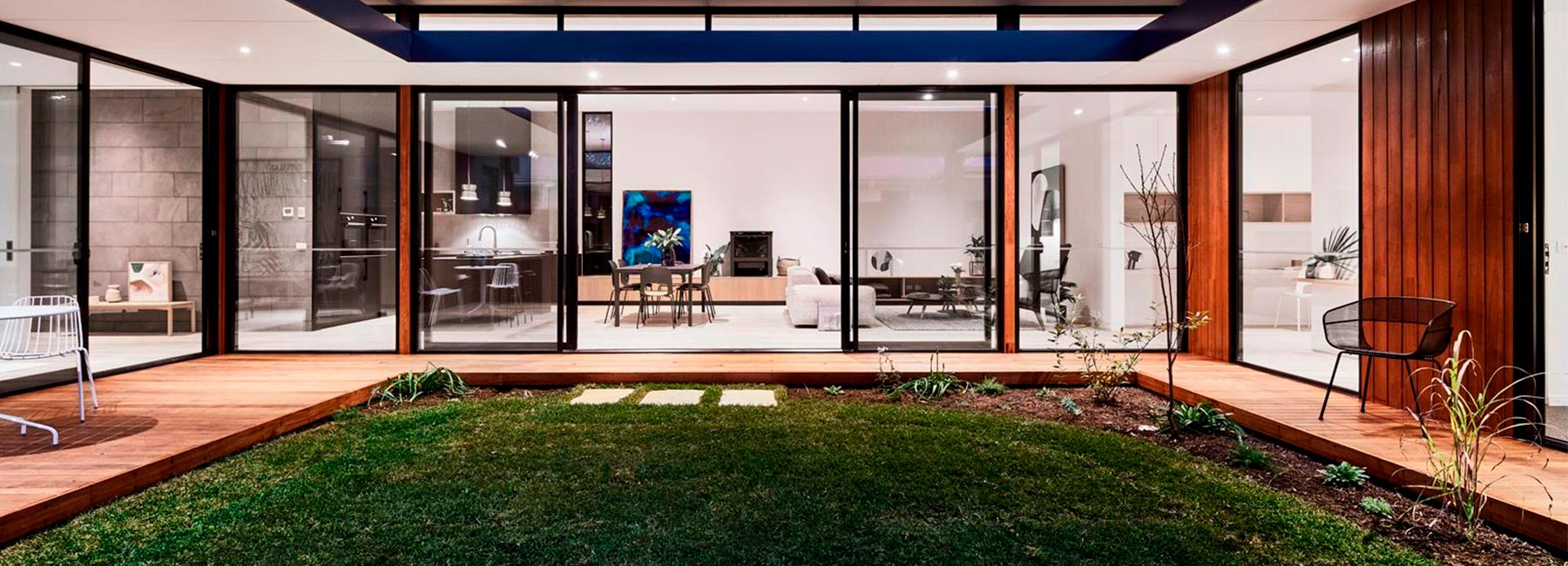 Дом с внутренним двориком в Австралии