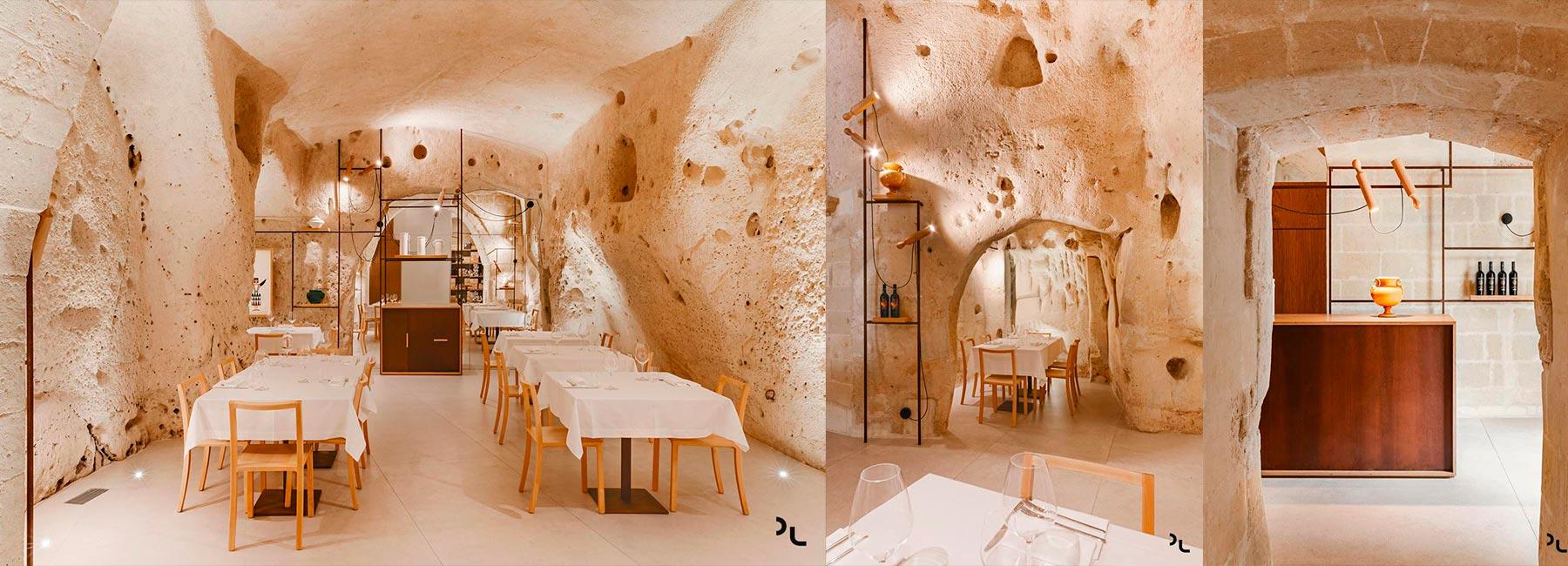 Необычная пиццерия Oi Marì в настоящей известняковой пещере
