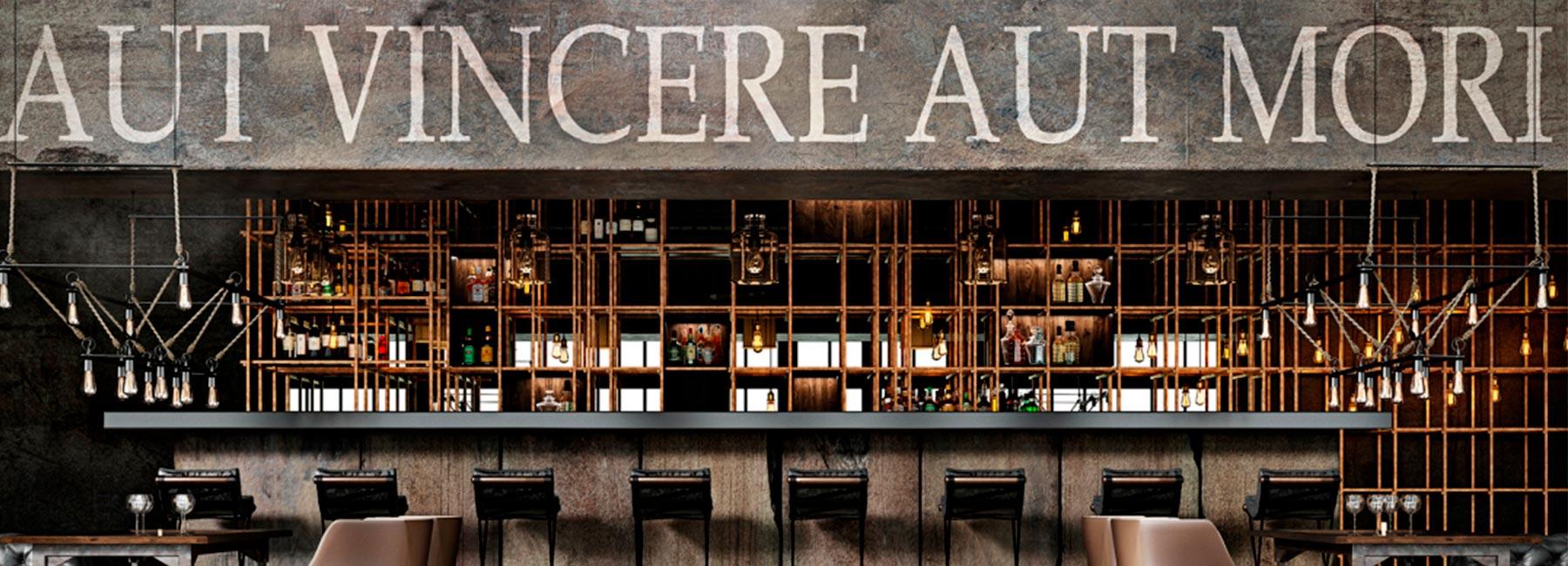 Потрясающий проект ресторана «Aut Vincere aut Mori»