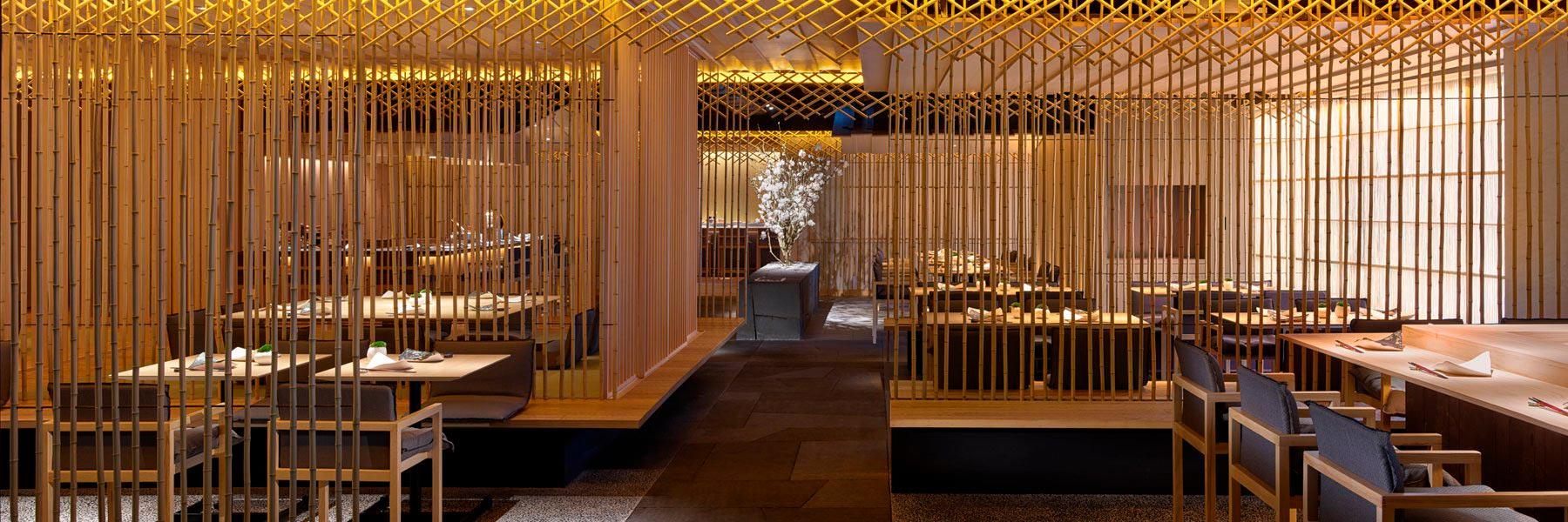 Ресторан в виде бамбуковой рощи по проекту Кенго Кумы