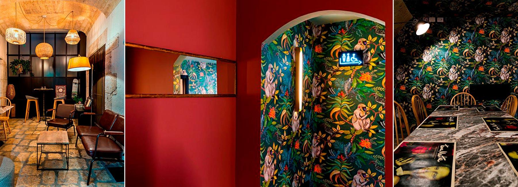 Красочный дизайн лаундж-бара с тропическими мотивами Tana Matta