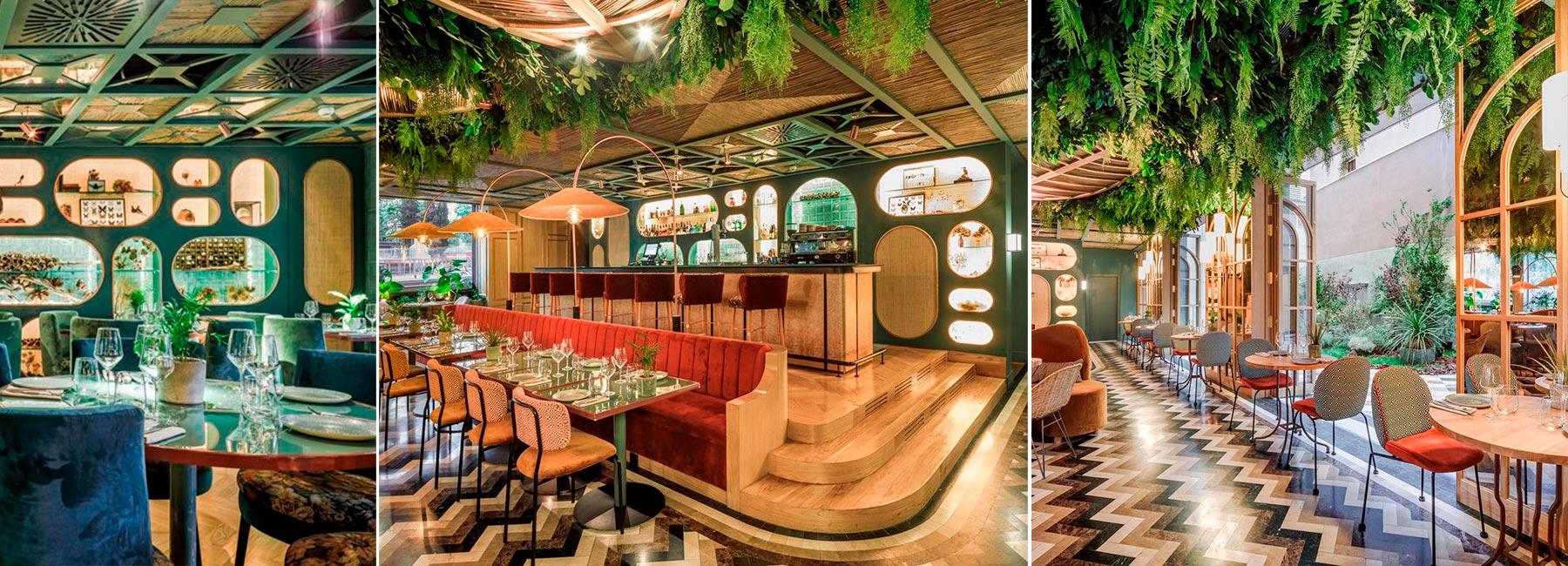 Растительное оформление ресторана Botania