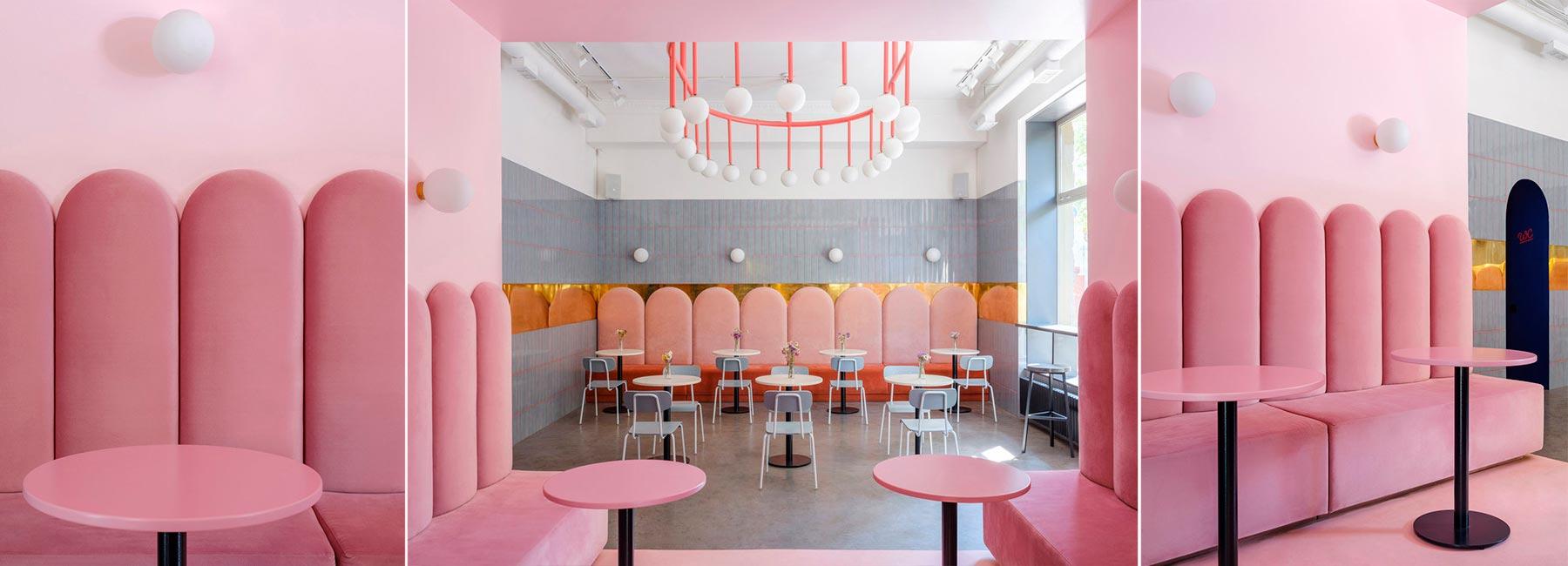 Эффектная розовая пекарня в Одессе Breadway Bakery по проекту Артема Тригубчака и Леры Бруминой