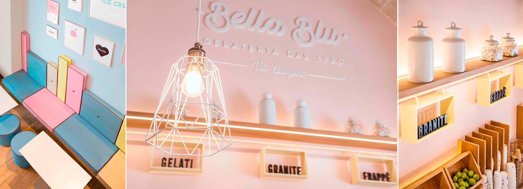 Кафе-мороженое Bella Blu в нежных оттенках
